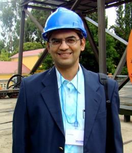 Wearing Mining uniform